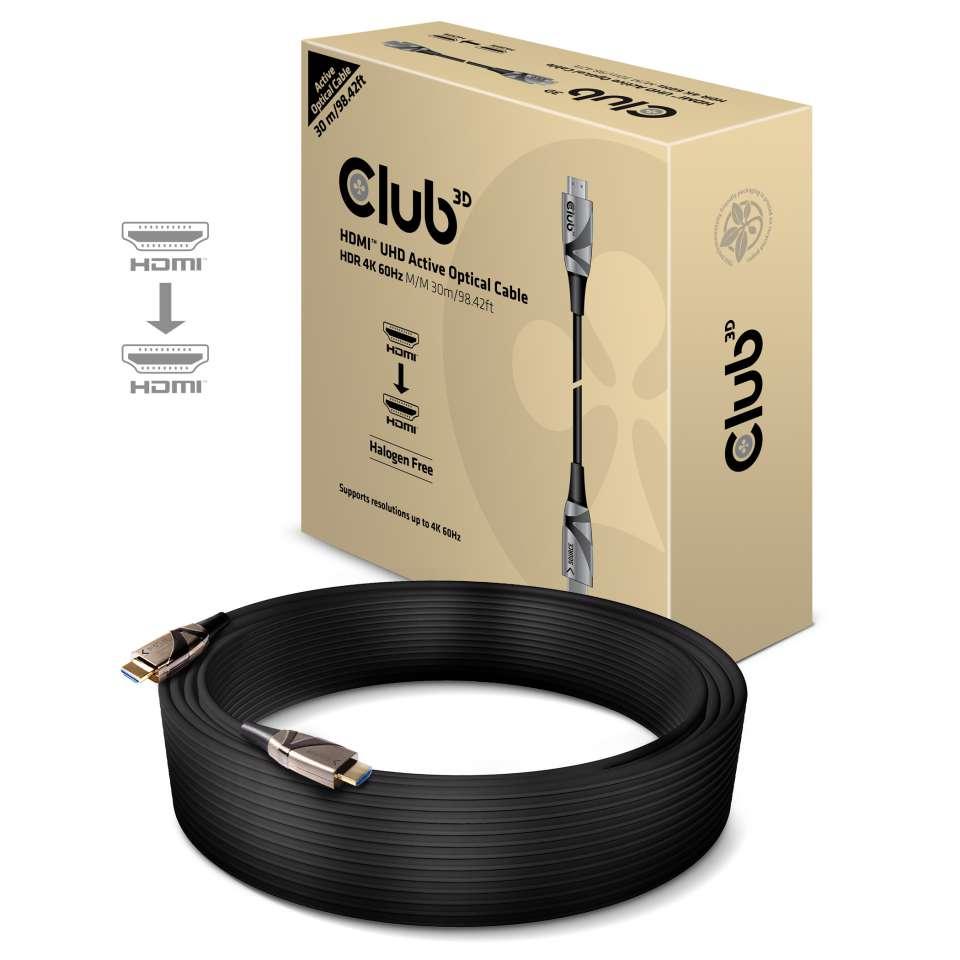 Kabel Club3d HDMI 2.0 4K60Hz UHD High Speed aktivan optički duljina 30m