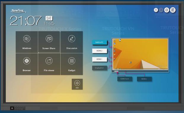 Interaktivni monitor Newline TT-6519RS+